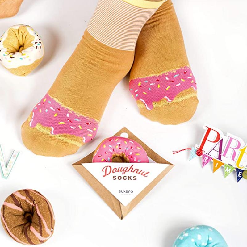 Japoniško dizaino kojinės IJ MARSHAL Doughnut Berry Sprinkles