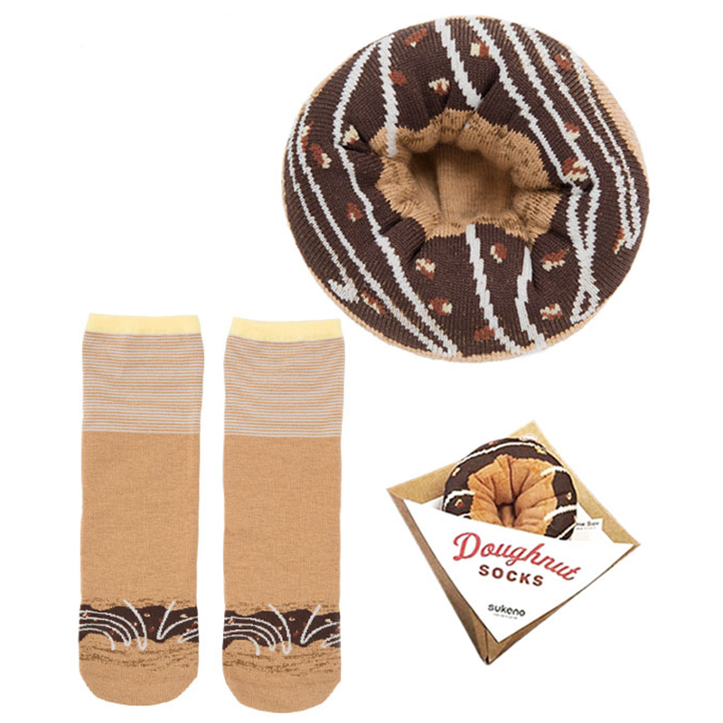 Japoniško dizaino kojinės IJ MARSHAL Doughnut Chocolate Glazed
