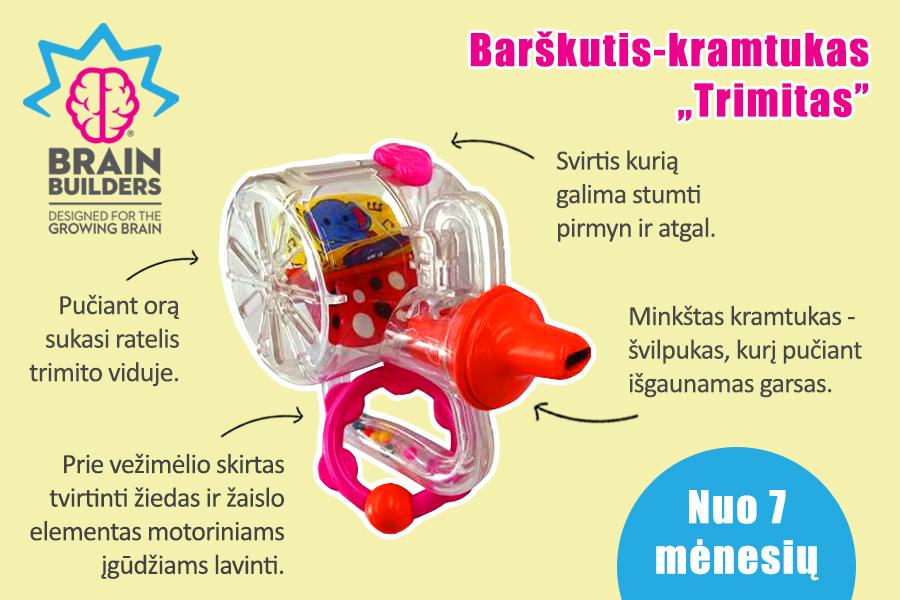 žaislai kūdikiams nuo 6 mėnesių