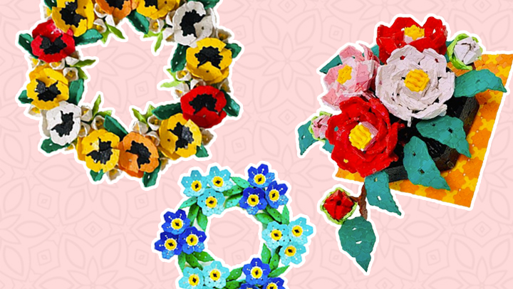 Japoniškas edukacinis konstruktorius LaQ_gėlės