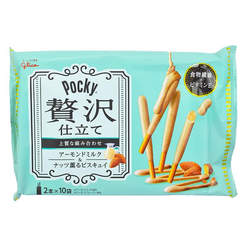 japoniski uzkandziai pocky lazdeles sausainiai migdolu skonio